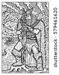 viking or sea king. fantasy... | Shutterstock .eps vector #579461620