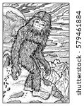 snowman or yeti. fantasy...   Shutterstock .eps vector #579461884