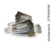 closeup of messy piles of old...   Shutterstock . vector #579464548