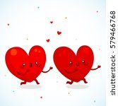 catch up of two loving hearts ... | Shutterstock .eps vector #579466768