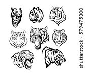 tigers set | Shutterstock .eps vector #579475300