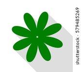 flower sign illustration. green ...