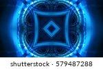 futuristic technology background | Shutterstock . vector #579487288