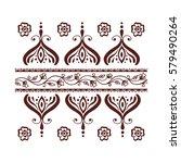 henna tattoo mehndi flower... | Shutterstock .eps vector #579490264