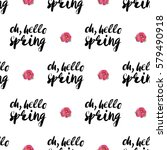 vintage vector flower patch... | Shutterstock .eps vector #579490918