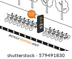 bike renting station vector... | Shutterstock .eps vector #579491830