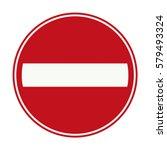 netherlands no entry for... | Shutterstock .eps vector #579493324