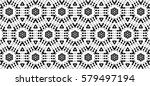 ornament with elements of black ... | Shutterstock . vector #579497194