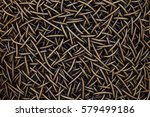 woven wicker background | Shutterstock . vector #579499186