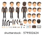 businessman character creation... | Shutterstock .eps vector #579502624