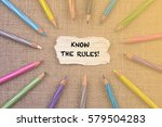 writing word know the rules ... | Shutterstock . vector #579504283