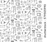 seamless pattern hand drawn... | Shutterstock .eps vector #579505990