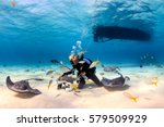 Scuba Diver Playing With...