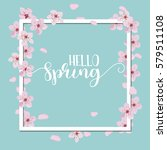 spring season background  pink... | Shutterstock .eps vector #579511108