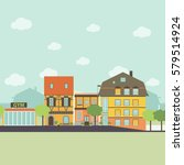 small urban town life... | Shutterstock . vector #579514924