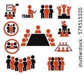 ally  alliance  team icon set | Shutterstock .eps vector #579515320