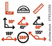 angle icon set | Shutterstock .eps vector #579515350