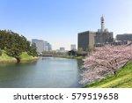 cherry blossom park in imperial ... | Shutterstock . vector #579519658
