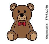 cartoon teddy bear vector... | Shutterstock .eps vector #579523060