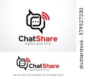 chat share logo template design ... | Shutterstock .eps vector #579527230