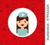 medical nurse woman | Shutterstock .eps vector #579532324