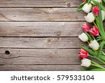 Colorful Tulips Bouquet On...