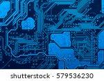 circuit board background | Shutterstock . vector #579536230