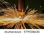 spot nut machine is welding... | Shutterstock . vector #579538630