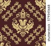 oriental vector classic golden... | Shutterstock .eps vector #579545668