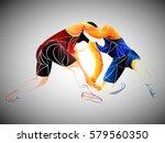 athlete wrestling | Shutterstock .eps vector #579560350