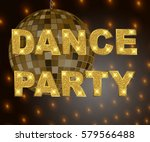 disco party background with...   Shutterstock .eps vector #579566488