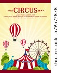 circus poster. amazing show.... | Shutterstock .eps vector #579572878