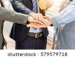 success teamwork concept ... | Shutterstock . vector #579579718