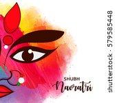 beautiful maa durga face on...   Shutterstock .eps vector #579585448