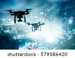 drone drone  multi rotor ... | Shutterstock . vector #579586420