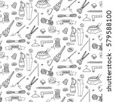 seamless pattern hand drawn... | Shutterstock .eps vector #579588100