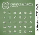 finance and business icon set... | Shutterstock .eps vector #579591088