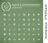 media and entertainment icon... | Shutterstock .eps vector #579591610