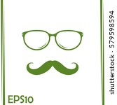 mustache and glasses vector... | Shutterstock .eps vector #579598594