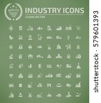 industry icon set clean vector | Shutterstock .eps vector #579601393