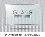 glass plate isolated on...