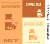 vector icon vial of medicine  | Shutterstock .eps vector #579602173