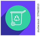 ecology trash can line vector... | Shutterstock .eps vector #579603013