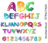 alphabet in the form of... | Shutterstock .eps vector #579617464