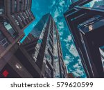 skyscraper buildings and sky... | Shutterstock . vector #579620599