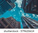 skyscraper buildings and sky... | Shutterstock . vector #579620614