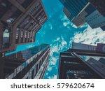 skyscraper buildings and sky... | Shutterstock . vector #579620674