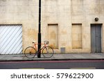 Red Bicycle Locking With Stree...