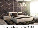 bedroom interior. 3d... | Shutterstock . vector #579625834