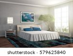 bedroom interior. 3d... | Shutterstock . vector #579625840